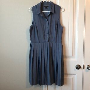 Banana Republic blue pleated dress